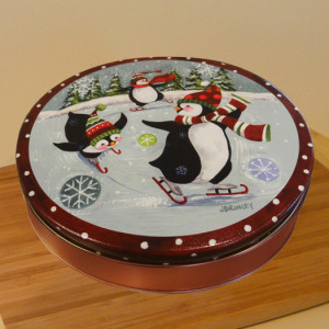 "10"" Shoofly Pie in Penguins Tin"