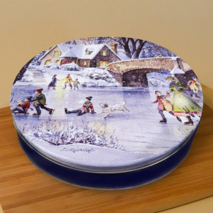 "10"" Pecan Pie in Winter Memories Tin"