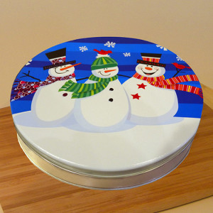 "10"" Pecan Pie in Snowmen Tin"
