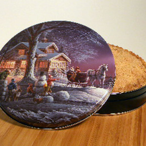 "10"" Shoofly Pie in Winter Wonderland Tin"
