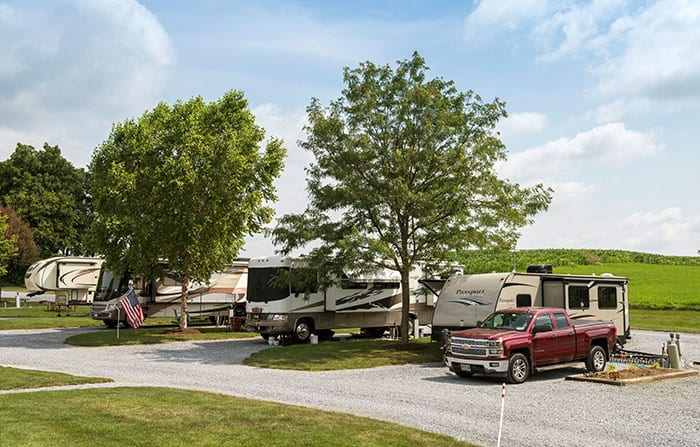 Country Acres Campground Lancaster PA Camper Sites