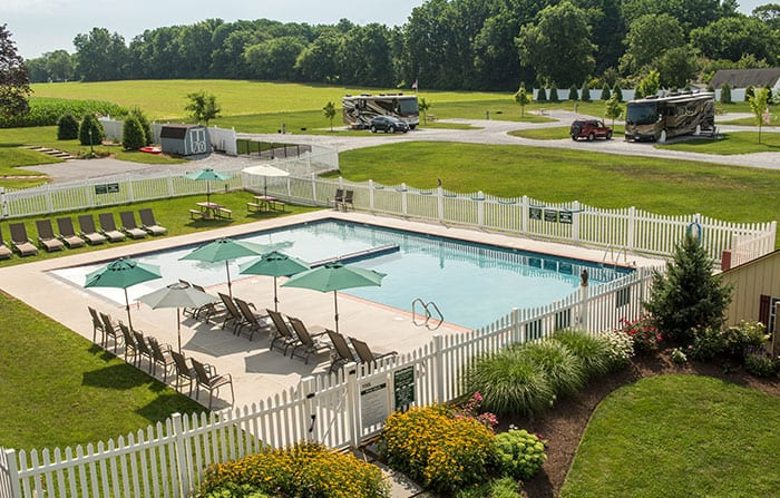 Country Acres Campground Lancaster PA Pool
