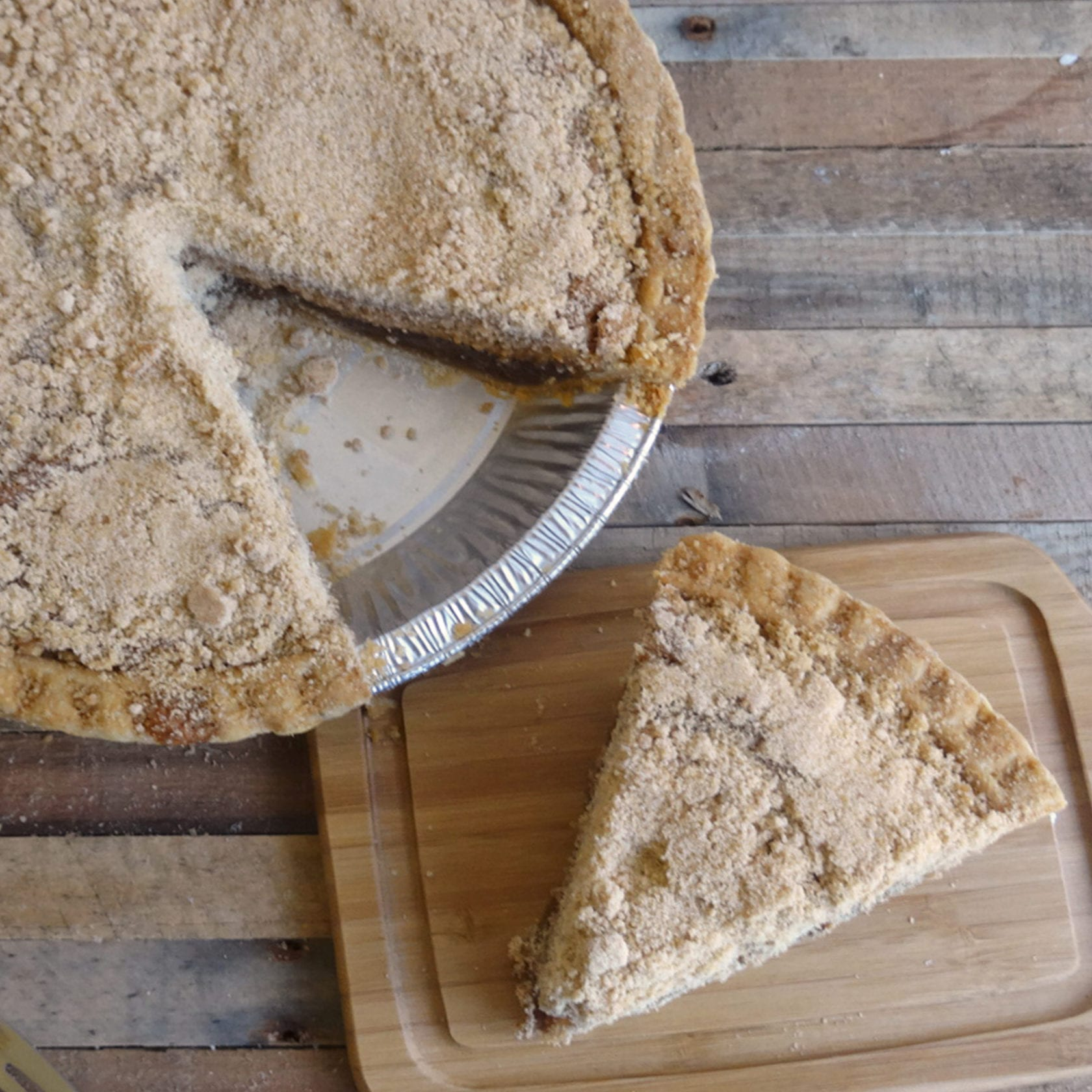 Slice of shoofly pie from Bird-in-Hand Bakery & Cafe