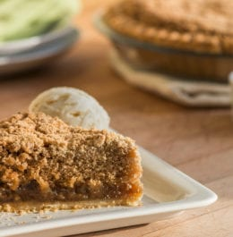 A slice of wet-bottom shoofly pie from Bird-in-Hand Bakery & Cafe