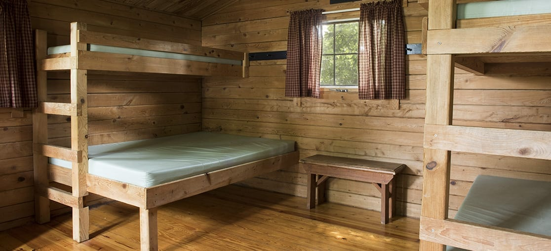 Beds in Cabin Country Acres