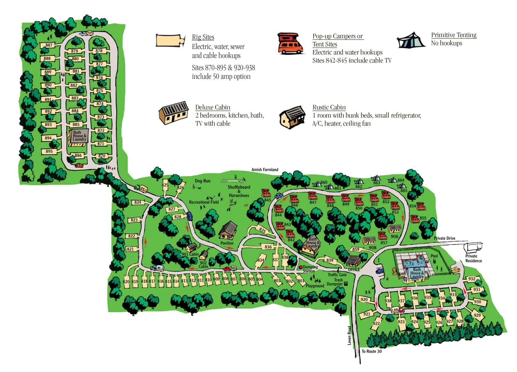 Map of Campground Near Lancaster, PA