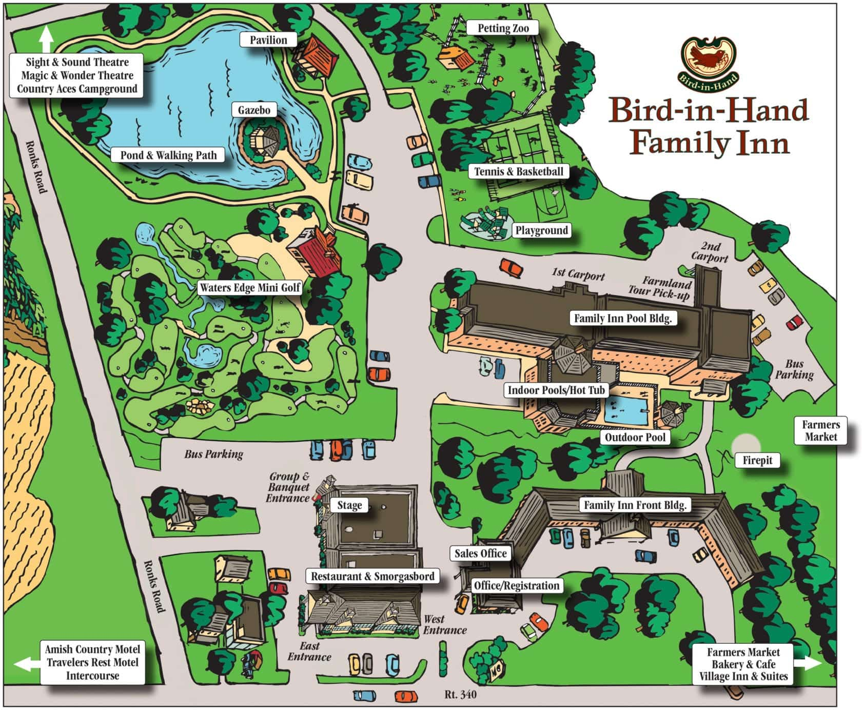 Map of Resort in Lancaster, PA